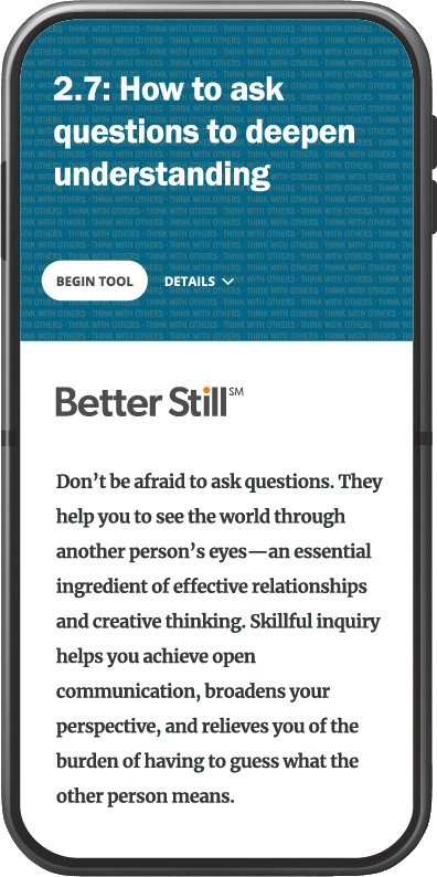Better Still Tool 2.7 How to Ask Questions to Deepen Understanding image