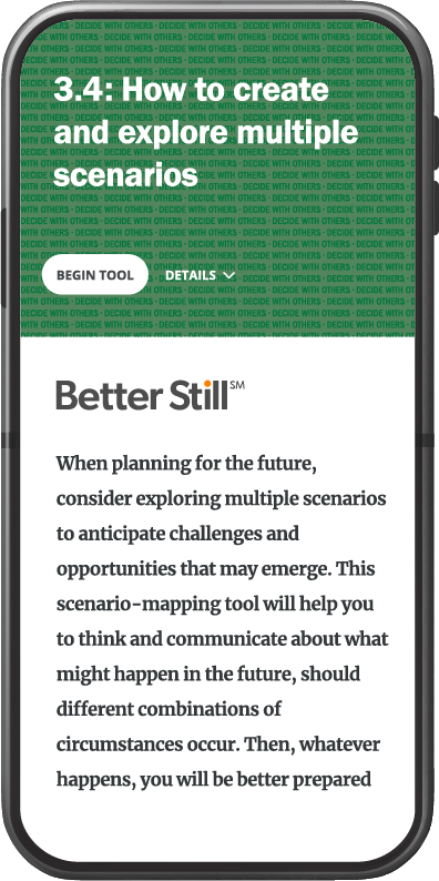 Better Still Tool 3.4 How to Create and Explore Multiple Scenarios image
