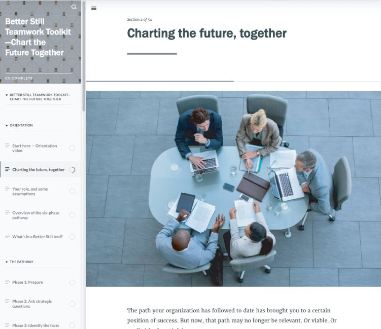 Better Still Teamwork Toolkit—Chart the Future Together Tool Plan Example