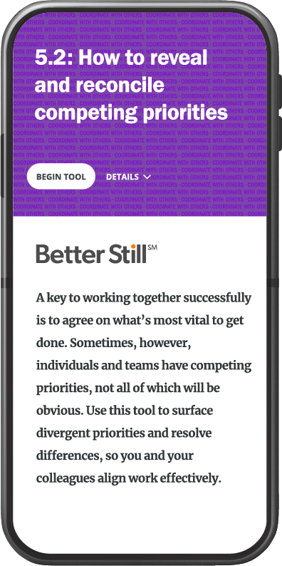 Better Still Tool 5.2 How to Reveal and Reconcile Competing Priorities image
