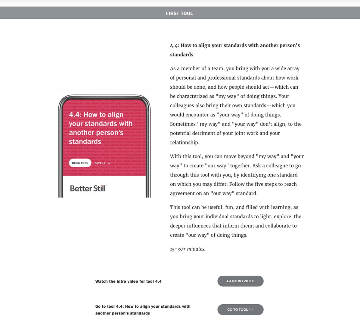 Better Still Teamwork Toolkit Tool 4.4 Plan Example