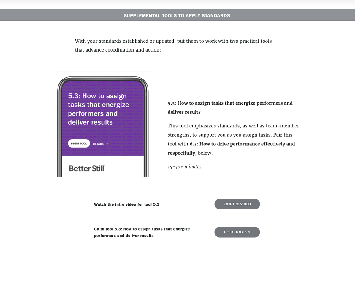 Better Still Teamwork Toolkit Tool 5.3 Plan Example