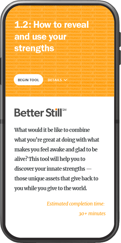 Better Still Tool 1.2 How to Reveal and Use Your Strengths image