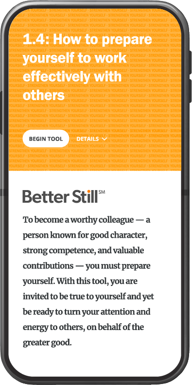 Better Still Tool 1.4 How to Prepare Yourself to Work Effectively with Others image