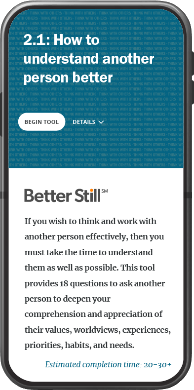 Better Still Tool 2.1 How to Understand Another Person Better image