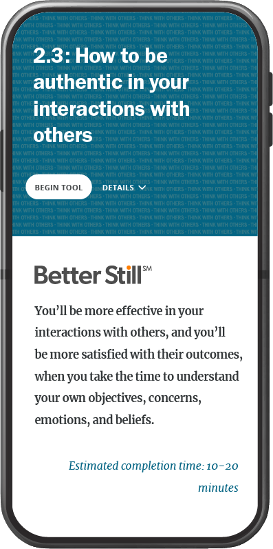 Better Still Tool 2.3 How to Be Authentic in Your Interactions With Others image