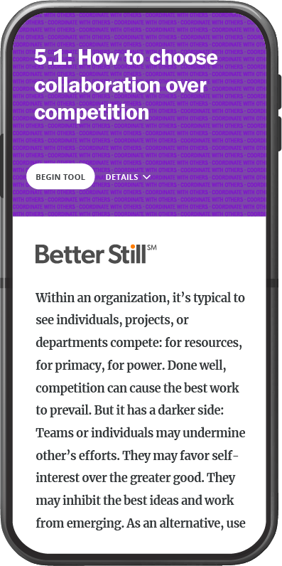 Better Still Tool 5.1 How to Choose Collaboration over Competition image
