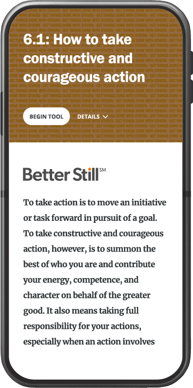 Better Still Tool 6.1 How to Take Constructive and Courageous Action image
