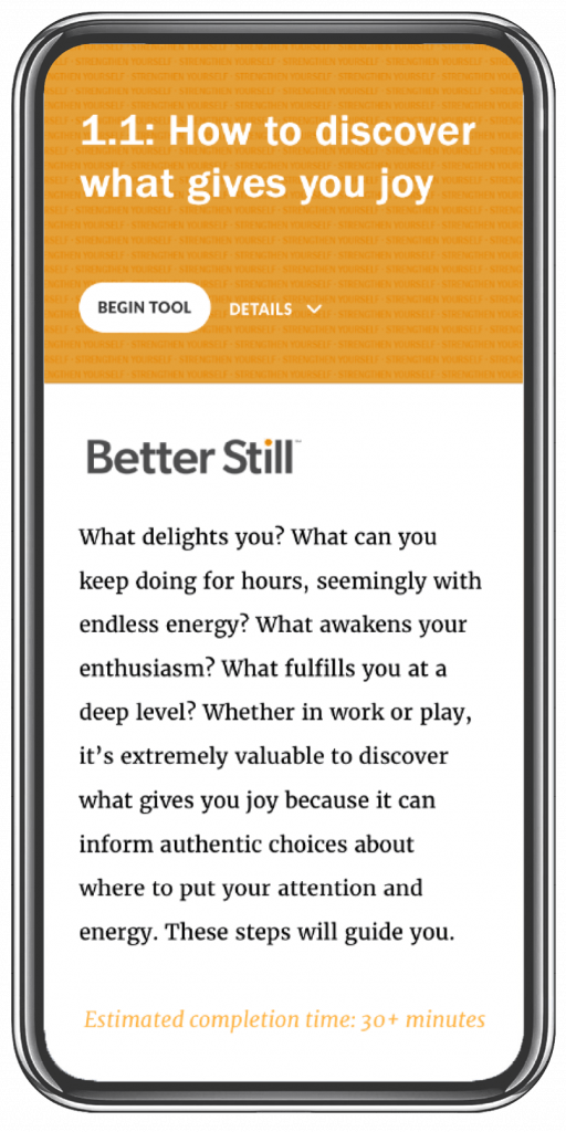 Better Still Tool 1.1 How to Discover What Gives You Joy image