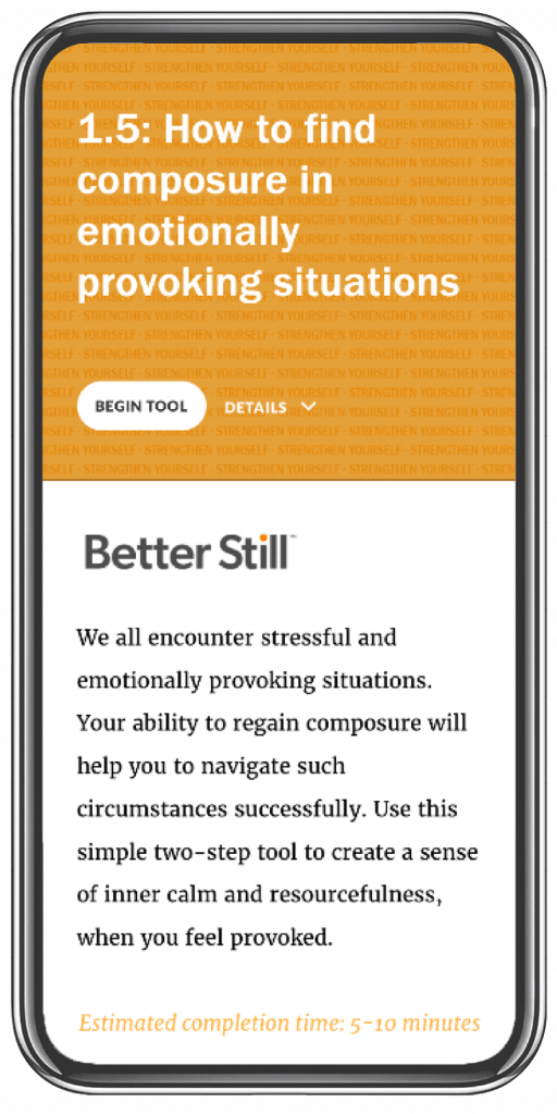 Better Still Tool 1.5 How to Find Composure in Emotionally Provoking Situations image