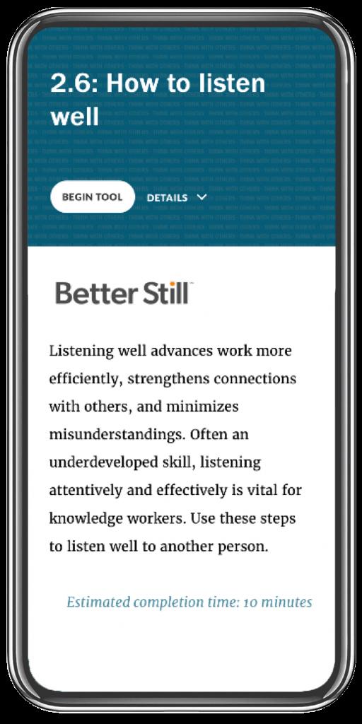 Better Still Tool 2.6 How to Listen Well image