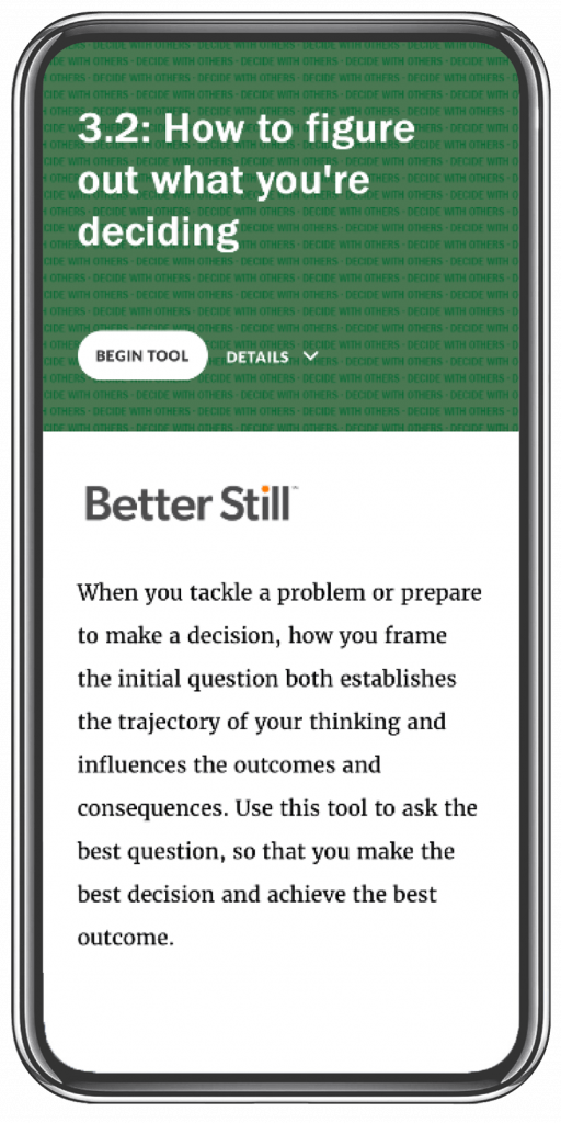Better Still Tool 3.2 How to Figure Out What You're Deciding image