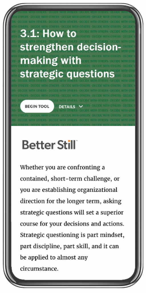 Better Still Tool 3.1 How to Strengthen Decision-Making with Strategic Questions image