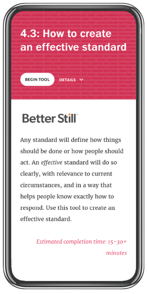 Better Still Tool 4.3 How to Create an Effective Standard image