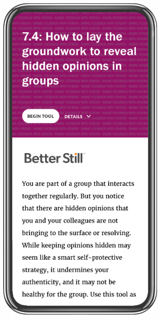 Better Still Tool 7.4 How to Lay the Groundwork to Reveal Hidden Opinions in Groups image