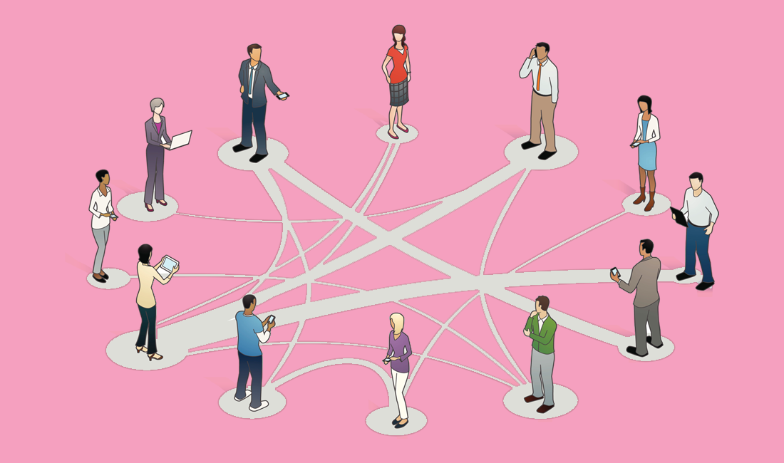 illustration of a network of professionals