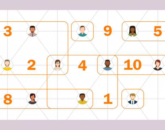Hybrid grid showing people and ten principles